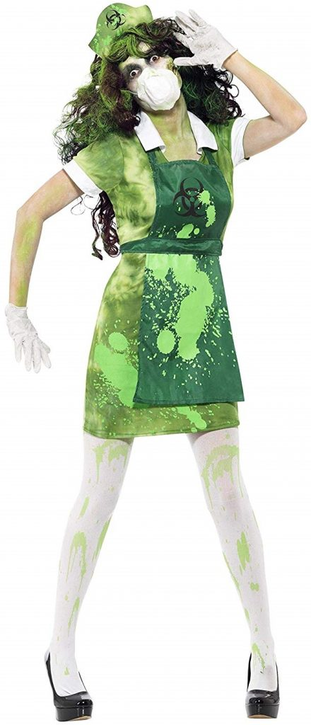 disfraz zombie central nuclear mujer halloween